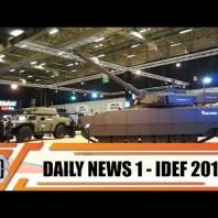 IDEF 2019 international defense industry fair exhibition show daily news Istanbul Turkey Day 1