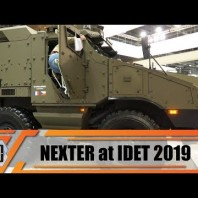 IDET 2019 Nexter Systems from France Titus 4×4 armored vehicle VBCI 2 Nerva LG UGV turret ammunition