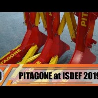 ISDEF 2019 Pitagone anti-ram mobile barrier to counter ramming truck vehicle attack made in Belgium