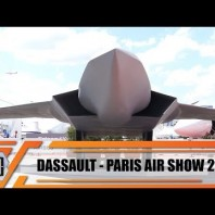 SCAF Dassault new generation fighter jet unveiled Paris Air Show 2019 with full-size scale model
