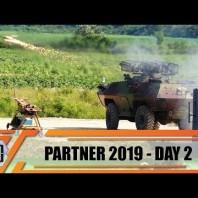 Partner 2019 live firing demonstration Yugoimport artillery armored vehicles missiles robot weapons