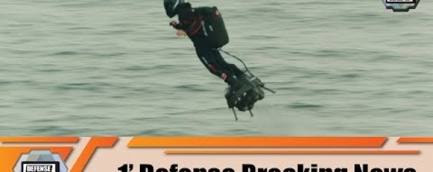 Franky Zapata flyingman has successfully crossed Channel over the sea Calais France to Dover UK