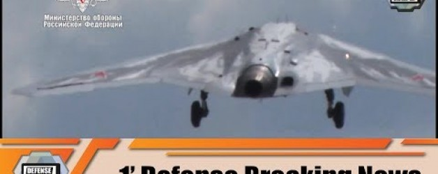 Sukhoi S-70 Okhotnik stealth UAV unmanned combat aerial vehicle armed drone first flight Russia MoD