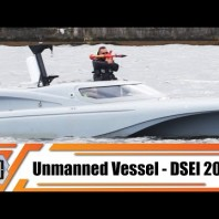 DSEI 2019 USV Unmanned Surface vessel ship boat live waterborne demonstration Naval Zone London UK