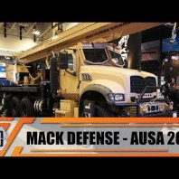 Mack Defense introduces Granite ATC 40T all terrain truck with crane for U S  Army