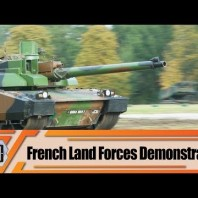 French army live mobility demonstration with all the major combat armored and tactical vehicles
