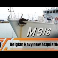 Belgian Minister of Defense and Foreign Affairs Philippe Goffin visits Naval Base at Zeebrugge