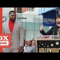 """A Fan Yells Out """"F*** JA RULE"""" During Eminem's Speech For 50 Cents """"Walk Of Fame"""" Ceremony"""