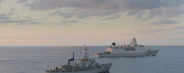 Malta and Netherlands' naval assets conduct manoeuvres at sea
