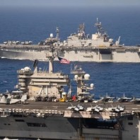 Theodore Roosevelt and America Strike Groups Conduct Operations in U.S. 7th Fleet
