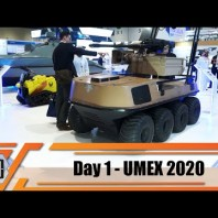 UMEX 2020 International Unmanned Defense Systems and training exhibition Abu Dhabi UAE Day 1