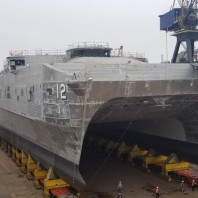 Austal launches 12nd Expeditionary Fast Transport Vessel for the U.S. Navy