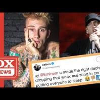 "Machine Gun Kelly Says Eminem Would Put His Crowd To Sleep Performing ""Killshot"" Live On Stage"